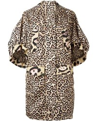 Givenchy Oversize Leopard Print Coat