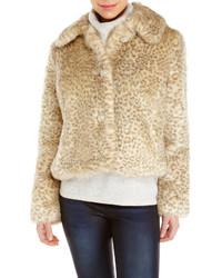 Beige Leopard Fur Jacket