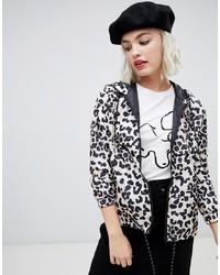 New Look Windbreaker In Leopard Print