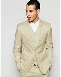 Skinny suit jacket in linen mix medium 744595