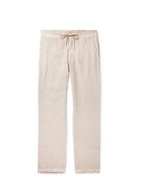 120% Slub Linen Drawstring Trousers