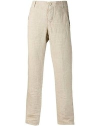 Beige Linen Dress Pants