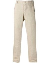 Beige Linen Dress Pants