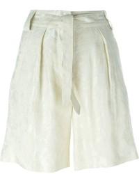 Etro Jacquard Tie Waist Pleated Shorts