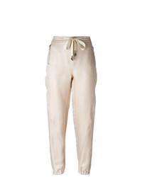 Ermanno Scervino Embelished Drawstring Tapered Trousers