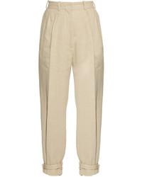 Hillier bartley ankle strap high rise linen blend trousers medium 1253261
