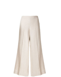 Theory Wide Legged Cropped Trousers