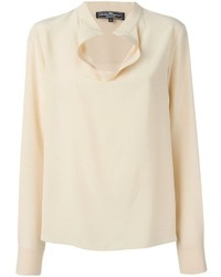 Salvatore Ferragamo Draped Collar Blouse