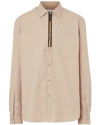 Burberry Zip Detailed Shirt