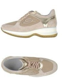 Beige Low Top Sneakers