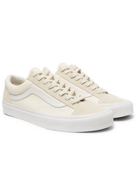 Vans Ua Style 36 Leather Trimmed Canvas And Suede Sneakers