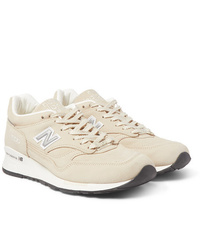Pop Trading Company X New Balance M1500 Leather And Suede Sneakers
