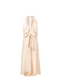 Chloé Deep V Neck Midi Dress