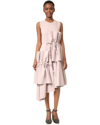 MSGM Midi Dress With Ties