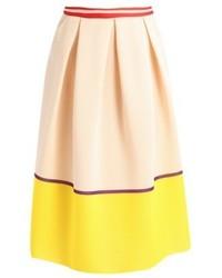 Pleated skirt beigeyellow medium 4580402
