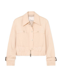 3.1 Phillip Lim Stretch Cotton Blend Canvas Jacket