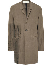 Painted linen overcoat medium 1245869