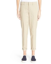 Vince Boyfriend Crop Cotton Trousers