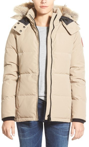 ... Parkas Canada Goose Chelsea Slim Fit Down Parka With Genuine Coyote Fur Trim ...