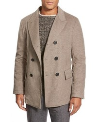 Bond double breasted peacoat medium 354531