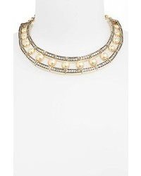 St. John Collection Crystal Glass Pearl Necklace