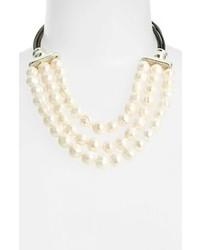 Simon Sebbag Potato Pearl Frontal Necklace Pearl White