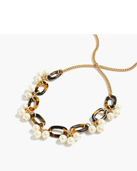 J.Crew Tortoise And Pearl Necklace