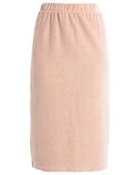 Noisy May Nmstella Pencil Skirt Cream Tan