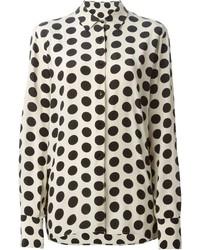 Polka dot print shirt medium 213042