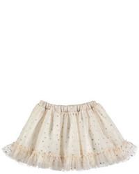 Beige Polka Dot Skirt