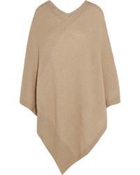 Asymmetric cashmere poncho beige medium 1158876