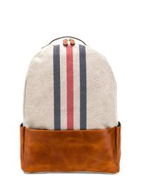 Eleventy Stripe Front Backpack