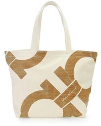 Mustique canvas beach bag gray medium 142599