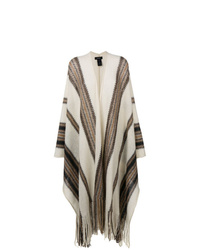 Isabel Marant Fringed Striped Poncho