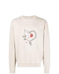 Saint Laurent Heart Print Sweatshirt