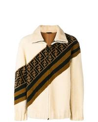 Fendi Ff Motif Shearling Jacket