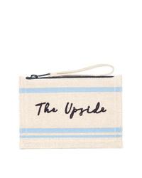 The Upside Stitched Logo Clutch Bag