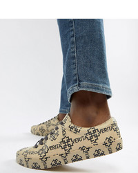 ASOS DESIGN Wide Fit Trainers In All Over Print