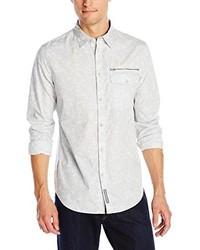 Beige Print Long Sleeve Shirt