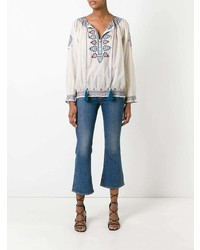 TALITHA Embroidered Figures Blouse