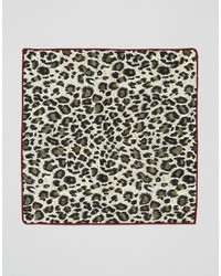 7x Pocket Square Animal Print In Box