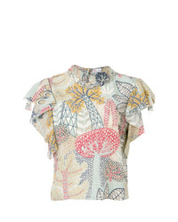 RED Valentino Embroidered Short Sleeve Top