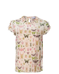 RED Valentino Insect Print Blouse