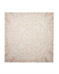 Ruffle print silk chiffon scarf medium 66285