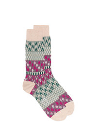 Ayame Ayam Pouring Rain Patterned Ankle Socks