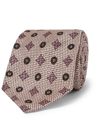 Rubinacci 8cm Cotton And Silk Blend Jacquard Tie