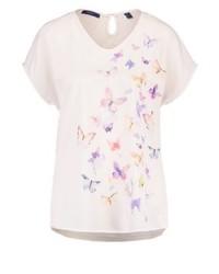 Esprit Butterfly Print T Shirt Sand