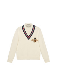 Gucci Wool Sweater With Bee Appliqu