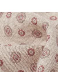 Brunello Cucinelli Medallion Print Wool Pocket Square