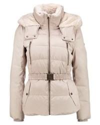 Esprit Beltdown Down Jacket Cream Beige